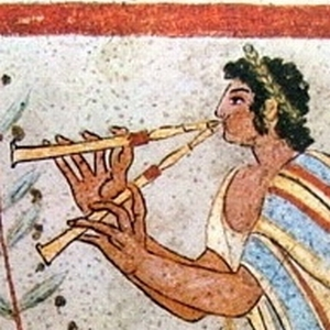 Etruscan Flute Player