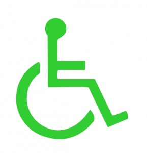 Green Wheelchair Sign