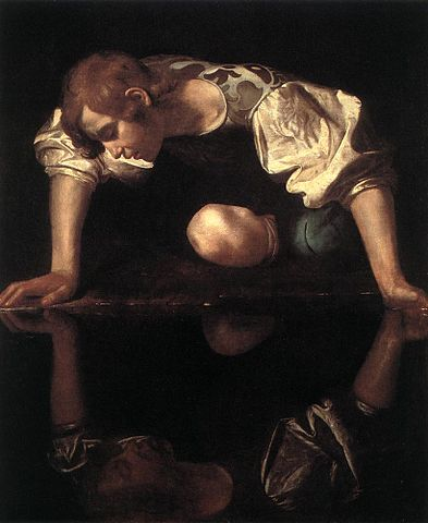 Narcissus by Caravaggio