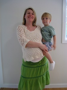 Pregnant Woman with Son