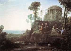 """Apollo and the Muses on Mount Helion (Parnassus)"" by Claude Lorrain"