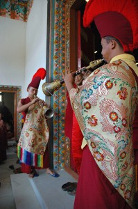 Monks Announcing Entry