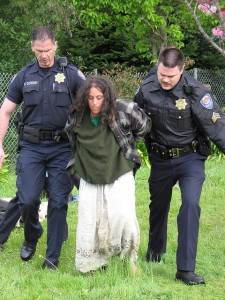 Homeless Woman Being Arrested
