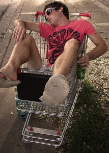 Drunk in Cart