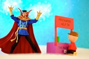Doctor Strange and Charlie Brown